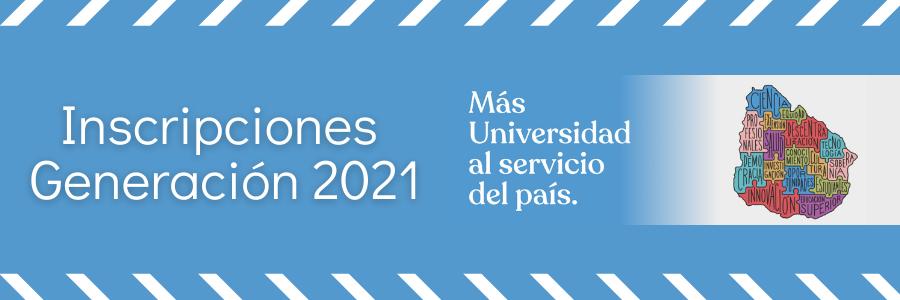 Inscripciones 2021 de la Udelar