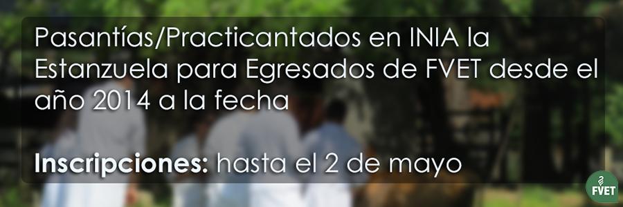 Pasantías/Practicantados en INIA La Estanzuela para Egresados