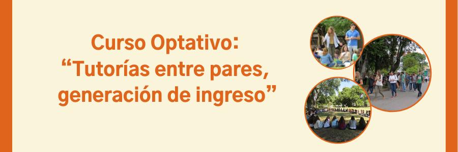 """Curso Optativo: """"Tutorías entre pares, generación de ingreso"""""""