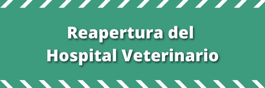 Comunicado: Reapertura del Hospital Veterinario