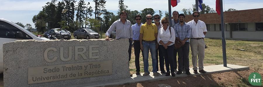 Visita del Decano de Facultad de Veterinaria Dr. José Piaggio a distintas sedes de la UdelaR