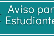 Aviso a estudiantes sobre los próximos exámenes