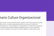 Cuestionario sobre Cultura Organizacional de Facultad de Veterinaria