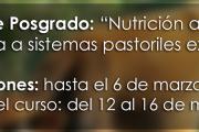 """Curso de Posgrado: """"Nutrición animal aplicada a sistemas pastoriles extensivos"""""""