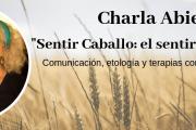 """Charla Abierta: """"Sentir Caballo: el sentir como terapia"""". Comunicación, etología y terapias corporales con equinos"""