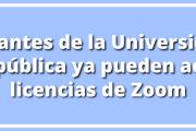 Estudiantes de la Udelar ya pueden activar licencias de Zoom