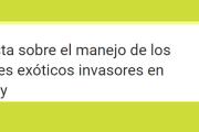 Encuesta sobre el manejo de los animales exóticos invasores en Uruguay