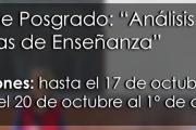 """Curso de Posgrado: """"Análisis de Prácticas de Enseñanza"""""""